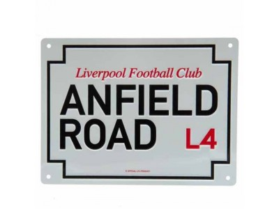 Liverpool skilt - LFC Anfield Road Sign