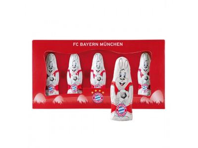 FC Bayern Munchen chokolade - Mini Chocolate Easter-Bunnies Set of 5