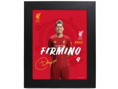 Liverpool billede - LFC Picture Firmino 10 x 8 inches