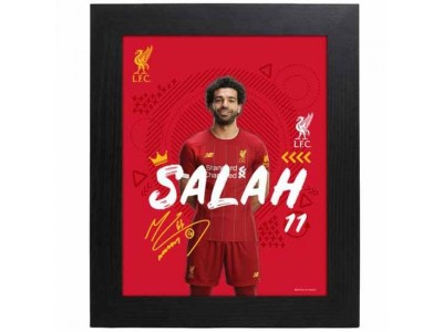 Liverpool billede - LFC Picture Salah 10 x 8 inches