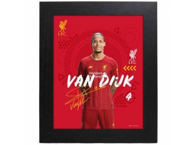 Liverpool billede - LFC Picture Van Dijk 10 x 8 inches