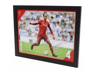 Liverpool billede - LFC Picture Van Dijk 16 x 12 inches