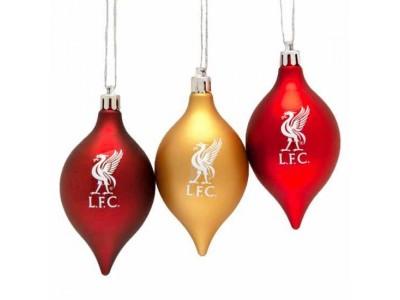 Liverpool julekugler - LFC 3 Pack Vintage Bauble