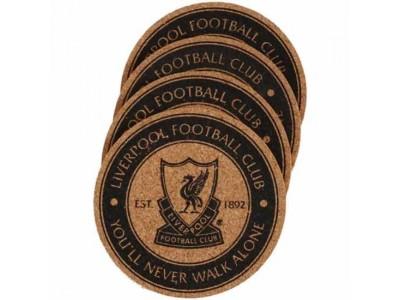 Liverpool bordskåner 4 pak - LFC 4 Pack Cork Coaster Set