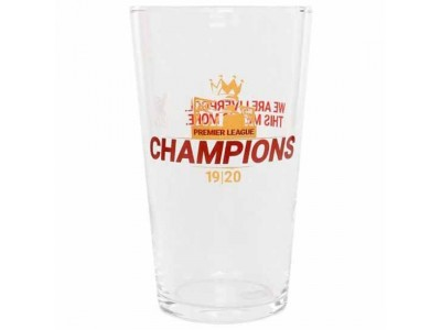 Liverpool glas - LFC Premier League Champions Large Glass