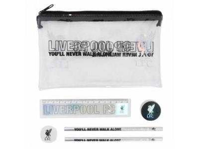 Liverpool skrivesæt - LFC Black & Silver Stationery Set