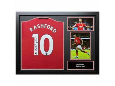 Manchester United trøje - MUFC Rashford Signed Shirt (Framed)