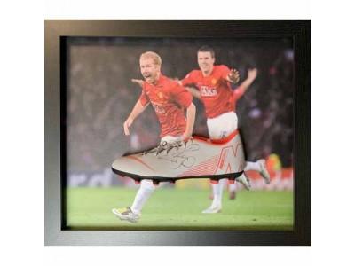 Manchester United støvle - MUFC Scholes Signed Boot (Framed)