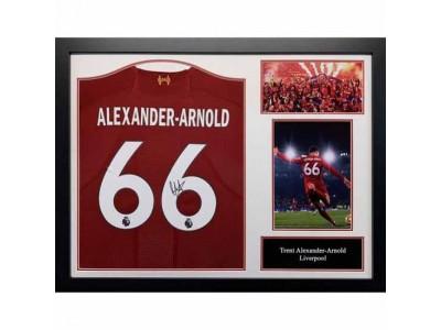 Liverpool trøje - LFC Alexander-Arnold Signed Shirt (Framed)