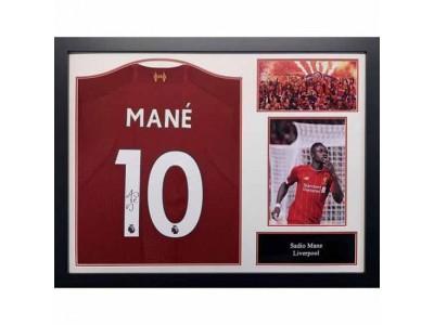 Liverpool trøje - LFC Mane Signed Shirt (Framed)