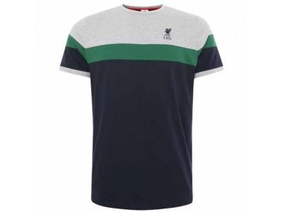 Liverpool t-shirt - LFC Retro Panel T Shirt Mens Navy - L