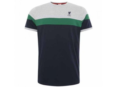 Liverpool t-shirt - LFC Retro Panel T Shirt Mens Navy - XL