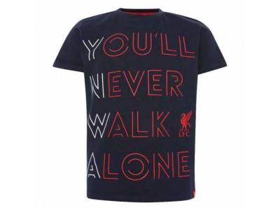 Liverpool - LFC YNWA T Shirt Junior Navy 5-6 år - børn