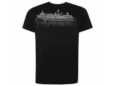 Liverpool tshirt - LFC Anfield Skyline T Shirt Mens Black - S