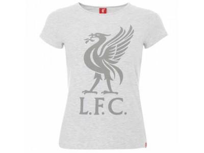 Liverpool LFC Liverbird T Shirt Ladies Ice Marl str. 8 dame