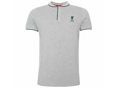 Liverpool polo trøje - LFC Birdseye Polo Mens Grey - S
