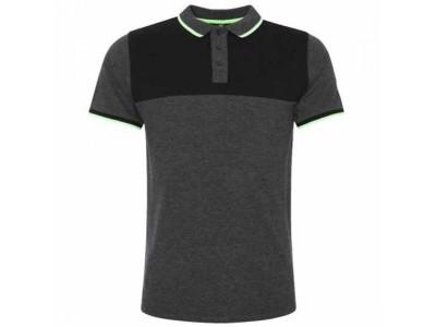 Liverpool polo trøje - LFC Neon Panel Polo Mens Charcoal - S