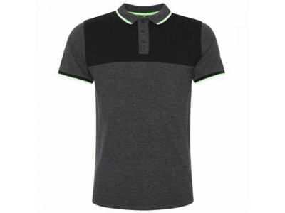 Liverpool polo trøje - LFC Neon Panel Polo Mens Charcoal - XL
