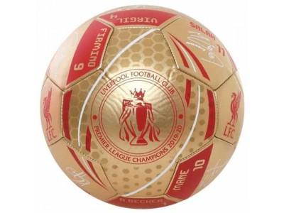 Liverpool fodbold - LFC Premier League Champions Gold Signature Football