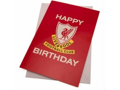 Liverpool fødselsdagskort - LFC Birthday Card Liverbird