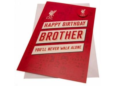 Liverpool fødselsdagskort - LFC Birthday Card Brother RD