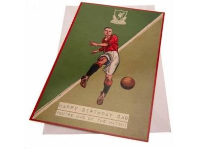 Liverpool fødselsdagskort - LFC Birthday Card Dad Retro
