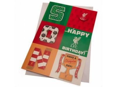 Liverpool fødselsdagskort søn - LFC Birthday Card Son