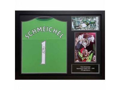 Manchester United trøje autograf - MUFC Schmeichel Signed Shirt (Framed)