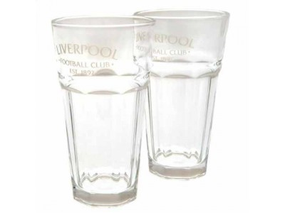 Liverpool glas - LFC 2 Pack Debossed Tumbler Set