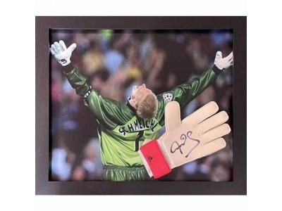 Manchester United handske autograf - MUFC Schmeichel Signed Glove (Framed)