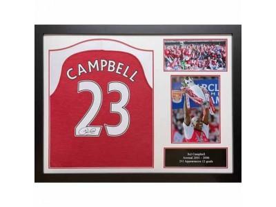 Arsenal trøje autograf - AFC Campbell Signed Shirt (Framed)