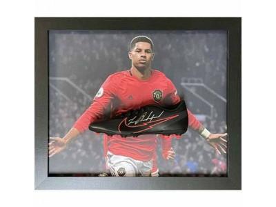 Manchester United støvle autograf - MUFC Rashford Signed Boot (Framed)