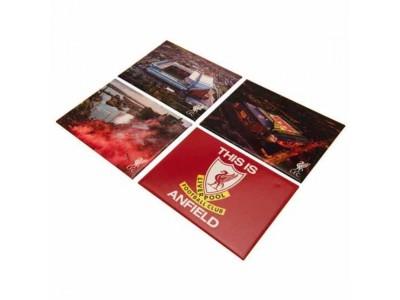 Liverpool køleskabsmagnet - LFC 4 Pack Fridge Magnet Set