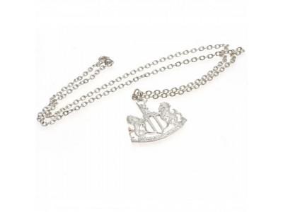 Newcastle United kæde og skilt - Silver Plated Pendant & Chain