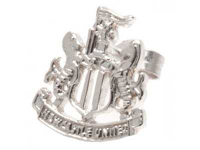 Newcastle United ørering - NUFC Sterling Silver Stud Earring