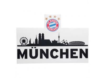 FC Bayern Munchen vægtattoo - Walltattoo Skyline