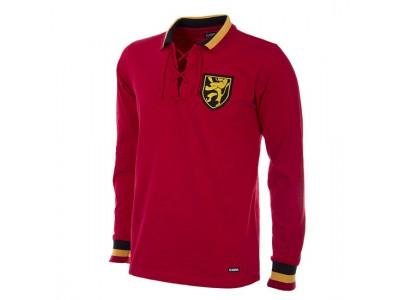 Belgien 1954 retro fodboldtrøje Lange Ærmer