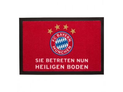 """FC Bayern Munchen dørmåtte - Doormat """"Heiliger Boden"""""""