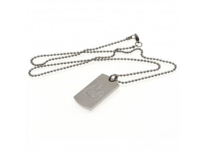 Newcastle United udstyr hund - NUFC Engraved Dog Tag & Chain