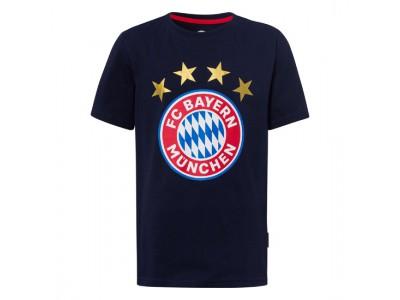 FC Bayern Munchen tshirt - T-Shirt Logo Navy Kids - børn