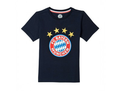FC Bayern Munchen T-Shirt Logo Navy Infants
