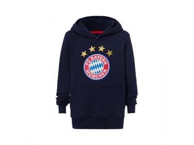FC Bayern Munchen hættetrøje - Hoodie Logo Navy Kids - børn