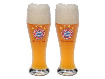 FC Bayern Munchen glas - Glass for Wheat Beer (Set of 2)