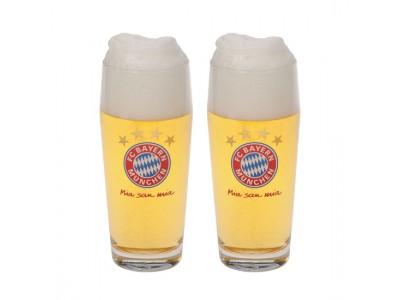 FC Bayern Munchen øl glas - FCB Beer Glass 0,5l (Set of 2)