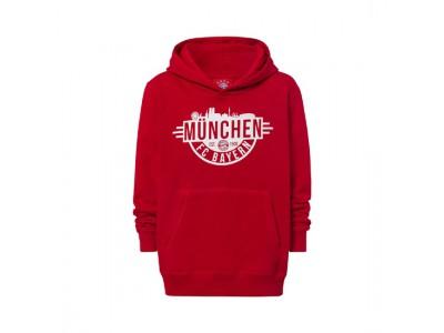 FC Bayern Munchen hættetrøje - Hoodie Munich Kids red - børn