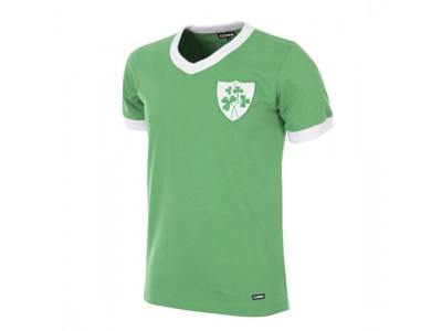 Irland trøje - Eire 1965 Short Sleeve Retro Football Shirt