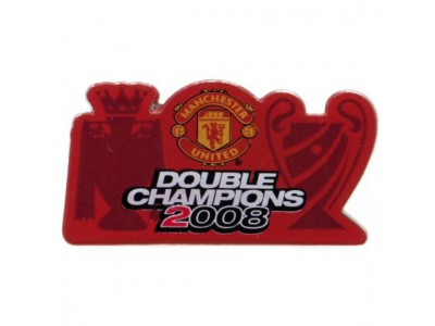Manchester United Double Champions Badge