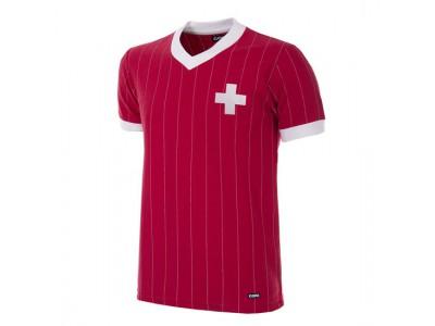 Schweiz 1982 retro fodboldtrøje