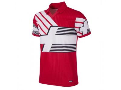 Schweiz 1990-92 retro fodboldtrøje