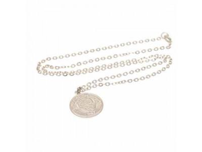 Manchester City kæde og skilt - Silver Plated Pendant & Chain